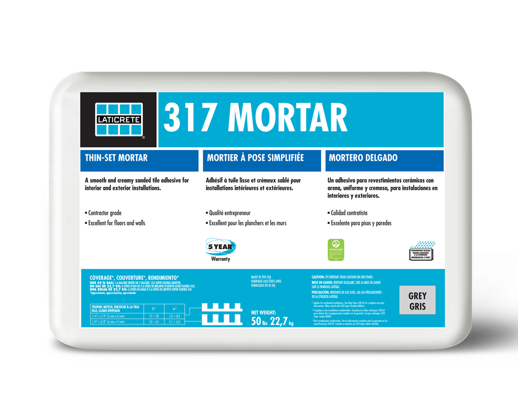 317 Mortat by Laticrete - Setting Materials