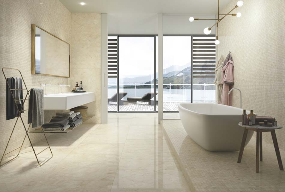Modern bathroom with view