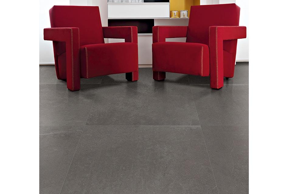 Modern porcelain tile flooring